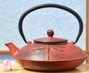 Cast Iron Sunset Red Dragonfly Tetsubin teapot kettle 0.8 litre Japanese style