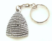 Bee Hive Key-ring, keychain in Fine English Pewter, Handmade
