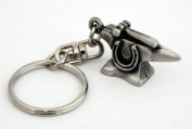 Blacksmith's Anvil Key-ring (keychain) in Fine English Pewter, Handmade