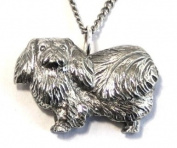 Pekingese Dog Necklace in Fine English Pewter, Handmade and Gift Boxed