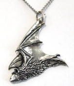 Pipestrelle Bat Necklace in Fine English Pewter, Handmade and Gift Boxed