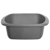 New Kitchen Whitefurze Silver Small Rectangular Washing Up Bowl Plastic Basin 7l