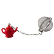 Kilo Tea Bag Infuser Metal Mesh Loose Tea Leaf Strainer Ball Red Tea Pot Trinket