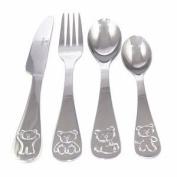 Viners Childrens Bertie Bear 4-Piece Cutlery Set, Gift Box