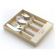 4 Piece Ceramic Handled Children's Cutlery - Spotty Dotty - Martin Gulliver