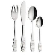Kitchen Craft Let's Make Children's Four Piece Stainless Steel Cutlery Set