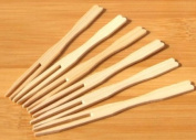 Small buffet & canapé wood forks 9cm x100