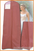 Showerproof Wedding Gown Dress Cover Storage Bag 183cm with SECRET INTERNAL ZIPPED POCKET