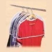 5 Larger Shoulder Garment Clothes Dust Covers for Suits, Jackets, Uniforms, Dresses etc.- Gusseted
