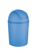 Wenko Arctic 15313100 Swing Top Bin 4.5 L 32 cm Frosted Blue