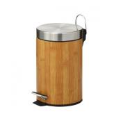 Zeller 18561 Pedal Bin Metal 3 Litres ø17 x 26 cm Bamboo