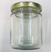 6 Round Glass Jam Jars