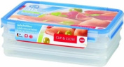 "Emsa Healthy Freshness (""Gesunde Frische"") 508556 Clip & Close Cold-Cuts Food Container Box 3 x 1 L"