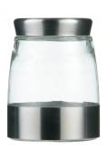 Premier Housewares Storage Jar, 1200 ml, Brushed Stainless Steel