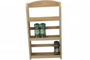 WOOD - Solid Wood 3 Tier Spice Rack - Natural