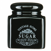 Nero Vintage Home Sugar Jar Made Of Ceramic Offered In Black Edition Colour