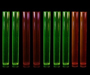 Disposable Party Neon Coloured Plastic Test Tube Shot Glasses 35ml 10/Pack