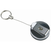 Retractable Key Ring - Stainless steel. Box quantity