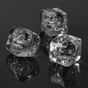 Acrylic Ice Cubes - Pack of 40 (approx.) | Fake Ice Cubes, Decorative Ice Cubes, Plastic Ice Cubes