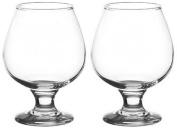 Set of 2 Large 390ml Stemmed Brandy Glasses