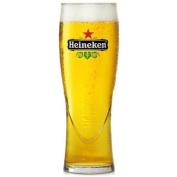 Heineken Pint Glasses 670ml Lined and CE Stamped at 590ml - Set of 4   Branded Heineken Glasses, Offical Heineken Glasses