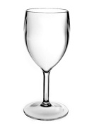 Set of 6 Roltex Unbreakable Polycarbonate Plastic SMALL Wine Glasses