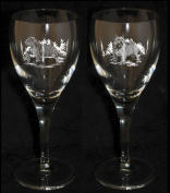 NORWICH TERRIER Wine Glass (Boxed pair of wine glasses) *Dog Gift*