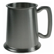 Plain Satin Finish Pewter Tankard