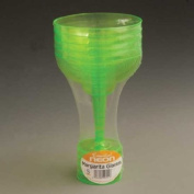 Disposable Neon Green Plastic Party Margarita - Cocktail - Ice Cream Glasses 30cl 60/Pack