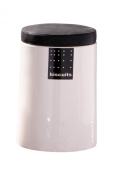 Premier Housewares Tag Cookie Canister, Black
