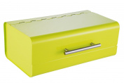 Zeller 27348 36 x 23 x 14 cm Bread Bin, Metal Green