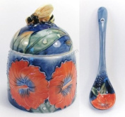 Hibiscus Honey Pot and Spoon