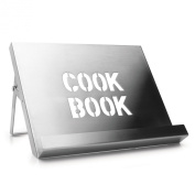 Cookbook Stand - Brushed Stainless Steel
