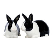 Quail Ceramics Black & White Dutch Rabbit Salt & Pepper Pots
