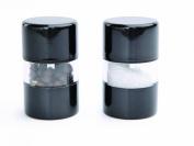 DMD Mini Gem Salt and Pepper Mill Set, Metallic Black