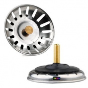 TRIXES Kitchen Sink Basin Strainer Drainer Drain Waste Plug Socket