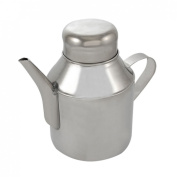 Stainless Steel Triangular Spout Oil Sauce Pot Silver Tone
