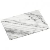 Elegant Chopping Board Made of White Marble & Polished Finish