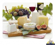 Premium Large Glass Chopping Board - Enjoy Cheese Design Kitchen Worktop Saver Protector