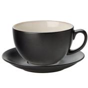 Utopia Barista Cappuccino Cup & Saucer Almond 14oz / 400ml | Porcelain Cups & Saucers, Utopia Tableware
