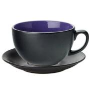 Utopia Barista Cappuccino Cup & Saucer Indigo 14oz / 400ml | Porcelain Cups & Saucers, Utopia Tableware