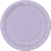 Disposable Party/Picnic Paper Plates 9 Inch (23cm) 30/Pack - Lilac