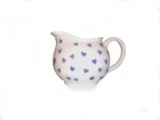 Nina Campbell Bone China Cream Jug, Blue Hearts Design