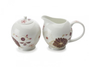 Maxwell & Williams Kimono Sugar & Creamer Set in White - Gift Boxed