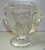 New - 2 x Glass Chicken Hen Egg Cups - Made in France by Luminarc