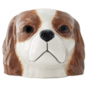 Quail Ceramics - Blenheim Cavalier King Charles Spaniel Face Egg Cup
