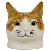 Quail Ceramics - Cat Face Egg Cup - Squash
