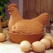 Terracotta chicken egg storage basket