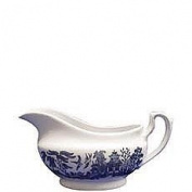 Churchill China Blue Willow Gravy Boat