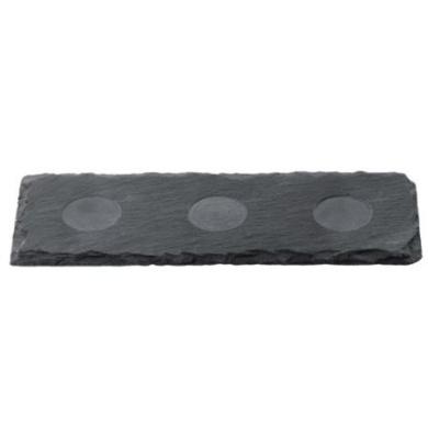 Slate 3 Recess Oblong Tray 30 x 10cm   Slate Platter, Slate Board, Slate Serving Tray, Slate Presentation Tray
